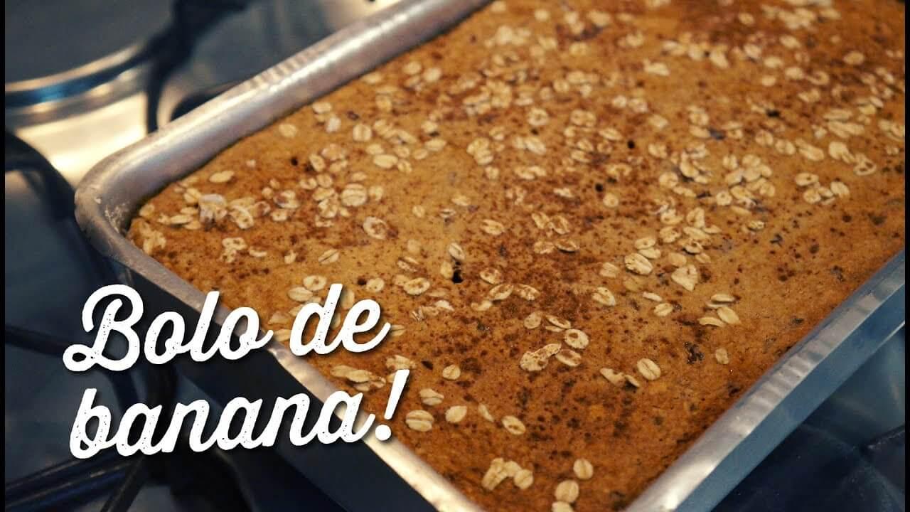 Bolo De Banana Sem Farinha De Trigo, Sem Açúcar e Sem Leite – Saudável, Fácil e Delicioso