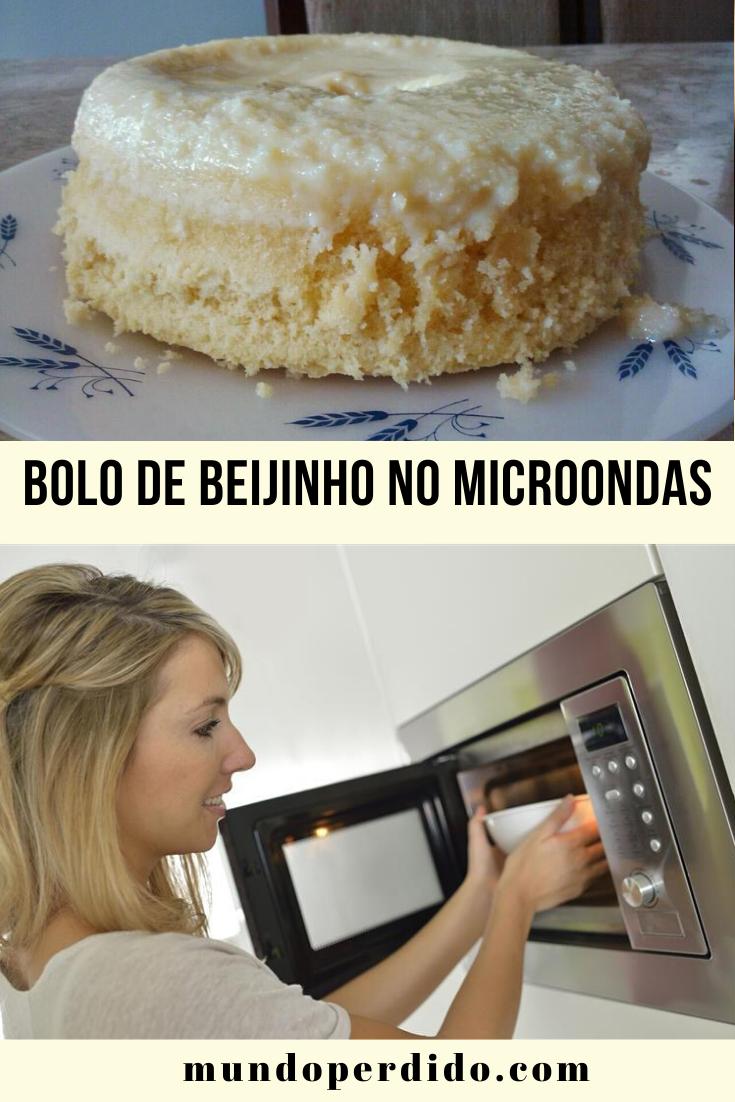 BOLO DE BEIJINHO NO MICROONDAS