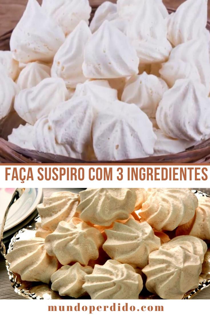 FAÇA SUSPIRO COM 3 INGREDIENTES