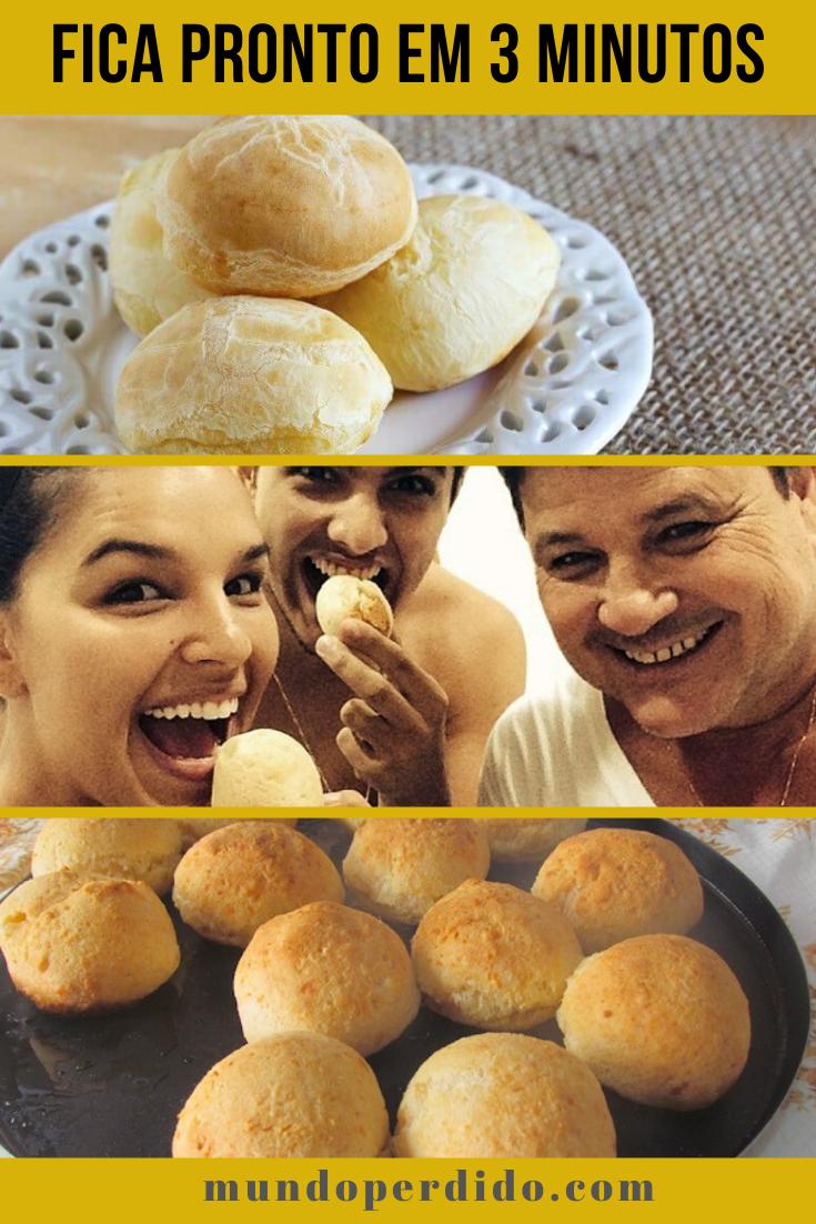 Pão de queijo de microondas – Fica pronto em 3 minutos