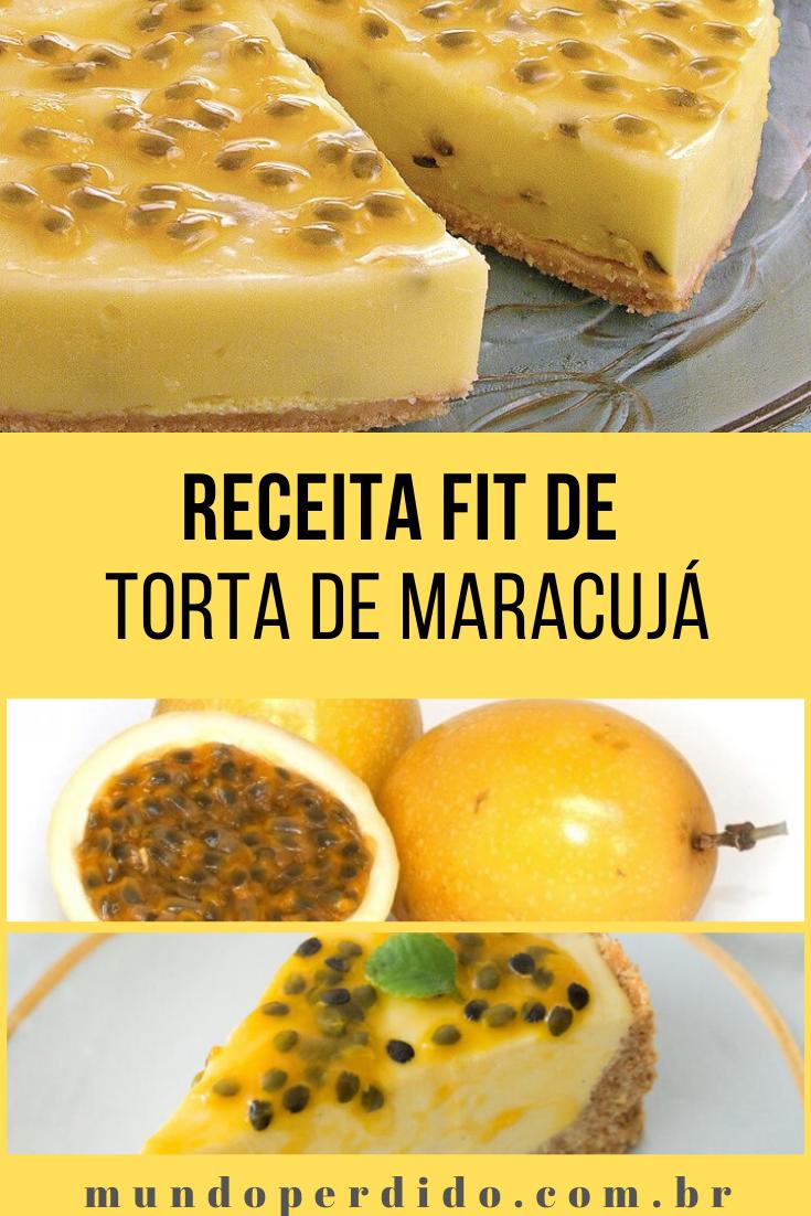 Receita Fit de Torta de Maracujá