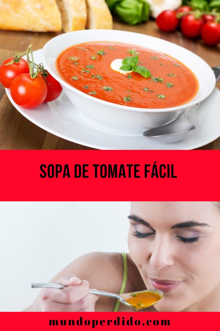 SOPA DE TOMATE FÁCIL PARA O INVERNO