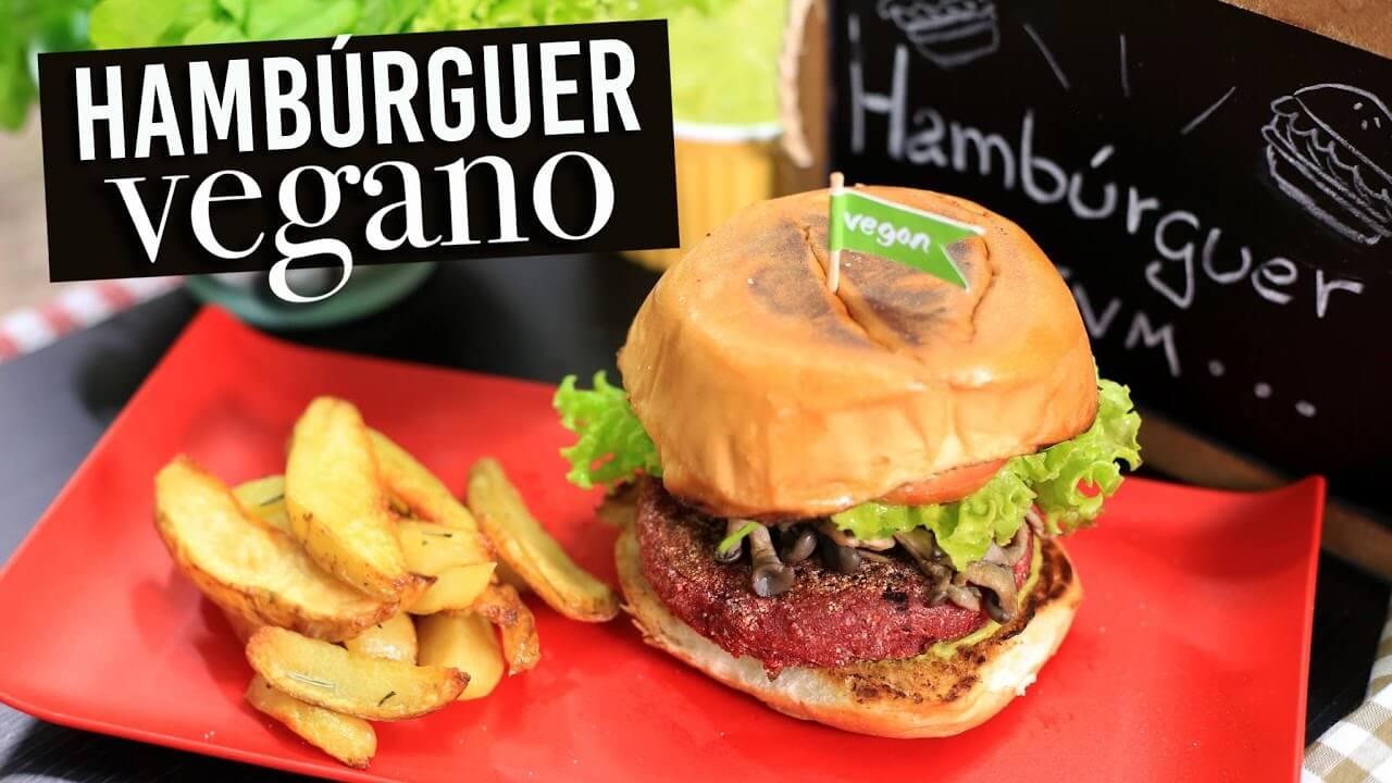Hambúrguer de grão de bico vegano