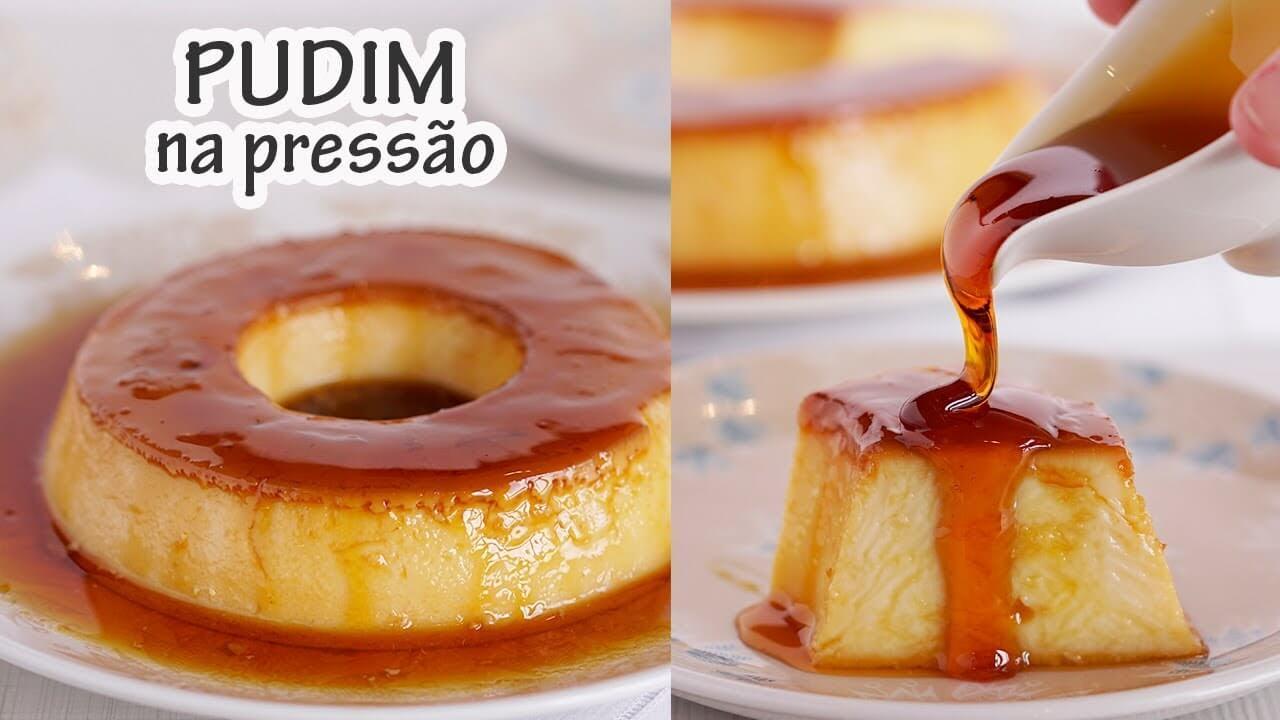 PUDIM DE PANELA DE PRESSÃO