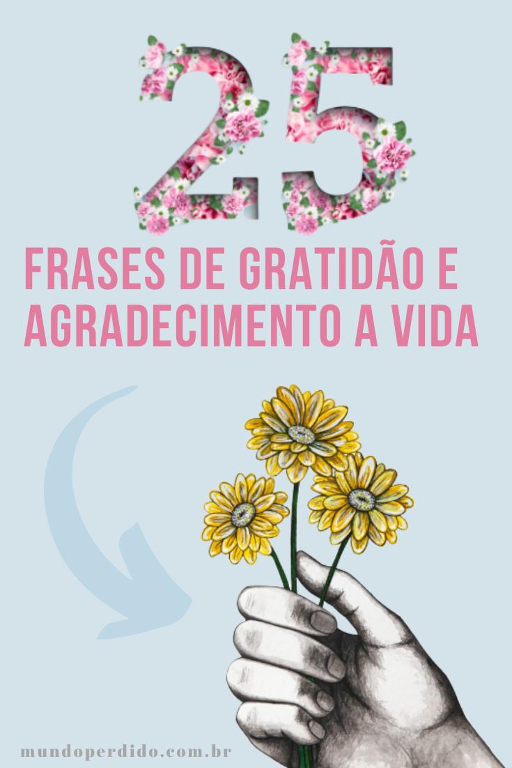 25 Frases de gratidão e agradecimento a vida