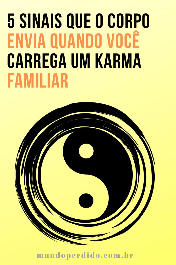 5 Sinais que o corpo envia quando você carrega um Karma familiar