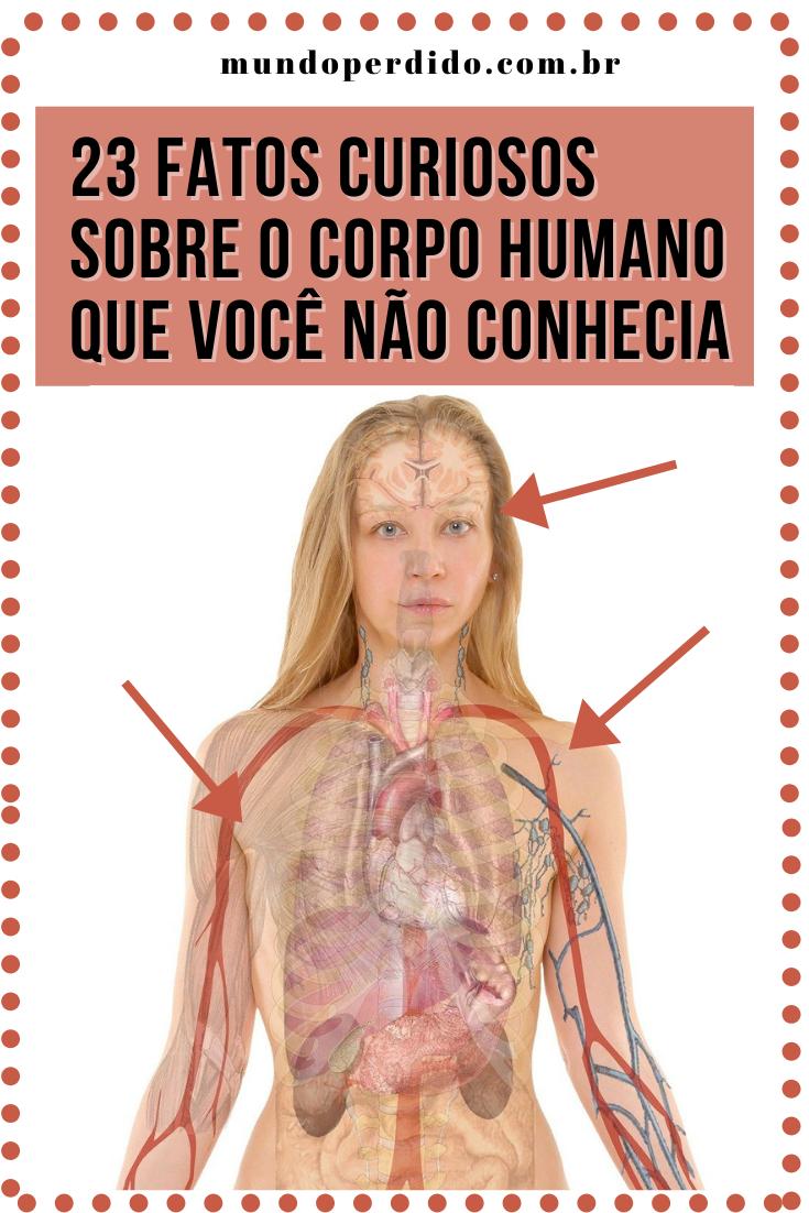 23 Fatos curiosos sobre o corpo humano que você não conhecia