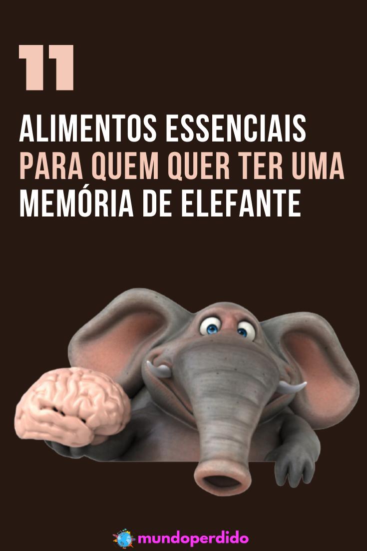11 Alimentos essenciais para quem quer ter uma memória de elefante