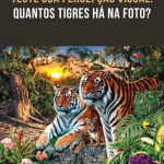 Teste sua percepção visual: Quantos tigres há na foto?