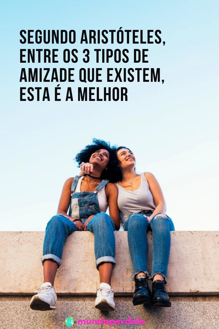 Segundo Aristóteles, entre os 3 tipos de amizade que existem, esta é a melhor
