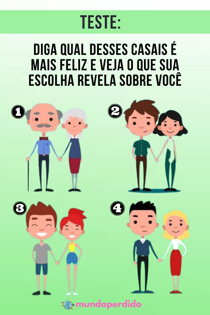 Teste: Diga qual desses casais é mais feliz e veja o que sua escolha revela sobre você